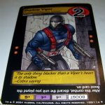 G.I.Joe Trading card Game 2004 100/114 No 100 Shadow Viper uncommmon @sold@